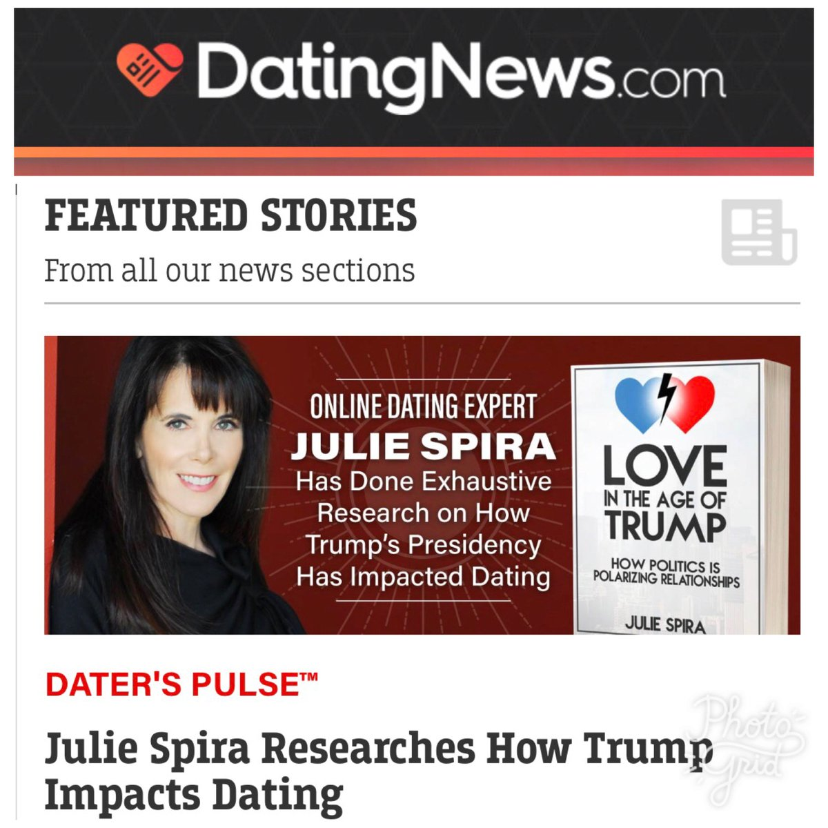 Julie spira cyber dating expert book