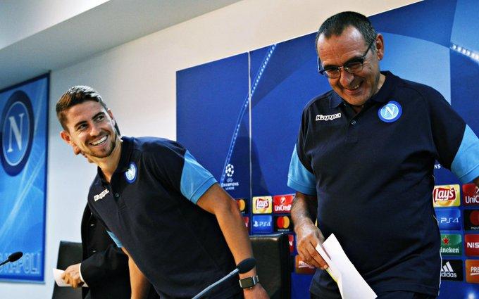 Sarri está perto de assinar pelo Chelsea e pode levar consigo Jorginho, que tinha quase tudo acertado com o Man City, avança @DiMarzio Photo