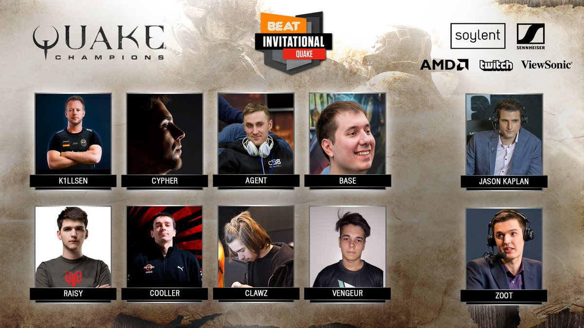 Further details here : https://beat.gl/quake-beat-invitational-season-2-announced/ … Special thanks to our sponsors @soylent @ViewSonic @AMDGaming ...