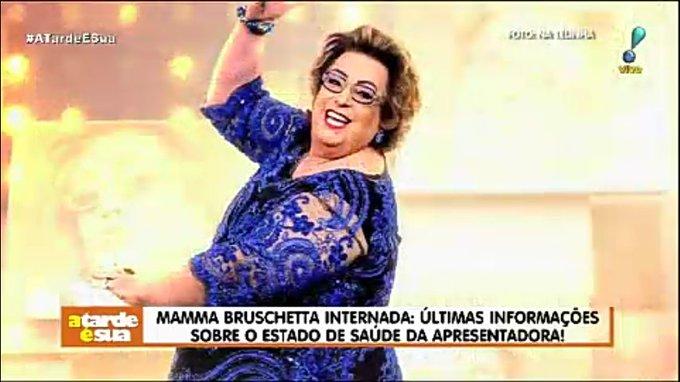Mamma Bruschetta internada: últimas informações sobre o estado de saúde da apresentadora! #AtardeESua Foto