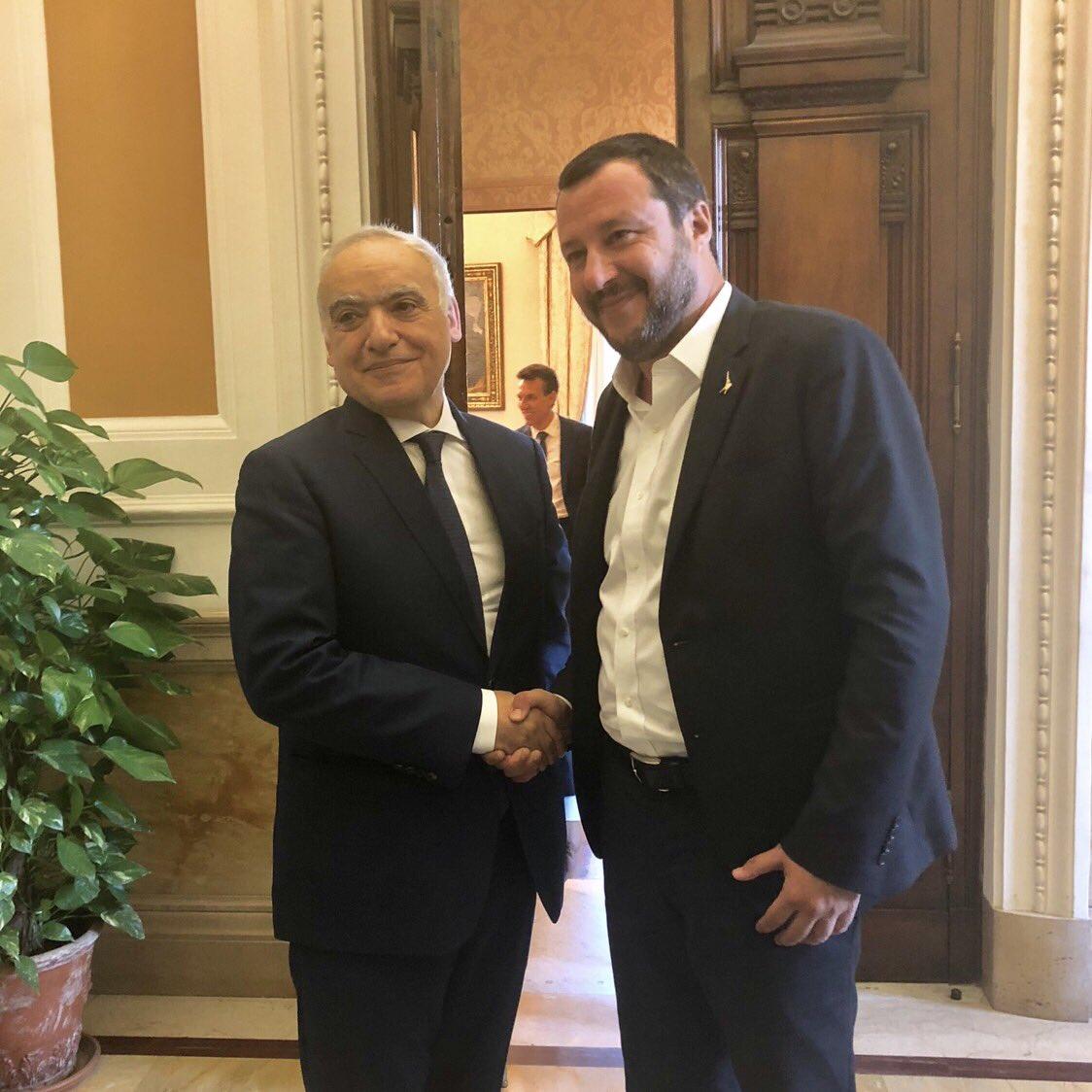 🔴 Rencontre à #Rome entre le représentant spécial du secrétaire général des @UN pour la #Libye #Ghassane_Salamé et le ministre italien des Affaires étrangères @matteosalvinimi @antonioguterres @MarocDiplomatie