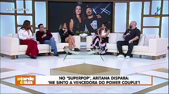 No SuperPop, Aritana dispara: me sinto a vencedora do Pawer Couple! #AtardeESua Foto