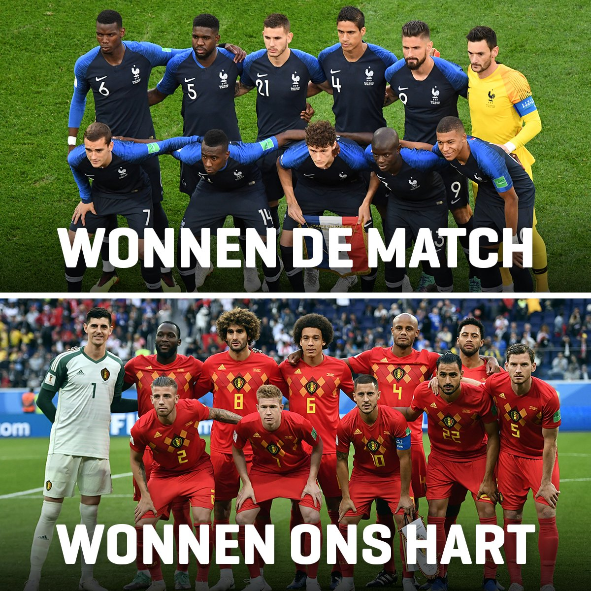 Niet gewonnen... ???? Maar wel ONEINDIG VEEL RESPECT voor onze Belgian Red Devils! ????????❤️ #redtogether #FRABEL