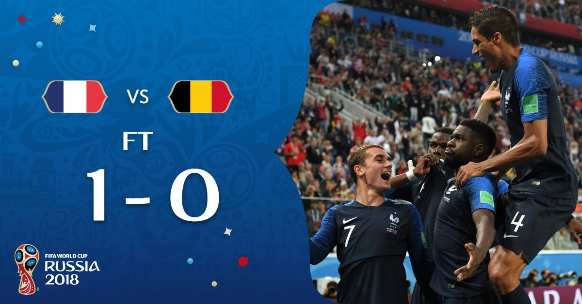 #FRA WIN!   @FrenchTeam are in the #WorldCupFinal!   #FRABEL // #WorldCup