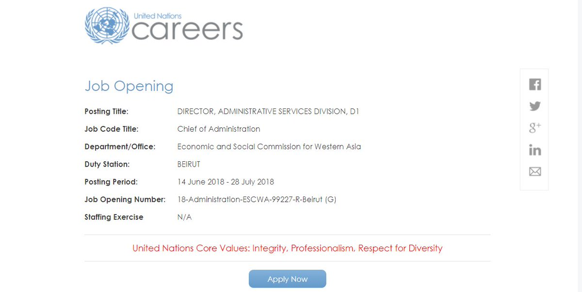 UN Careers on Twitter: