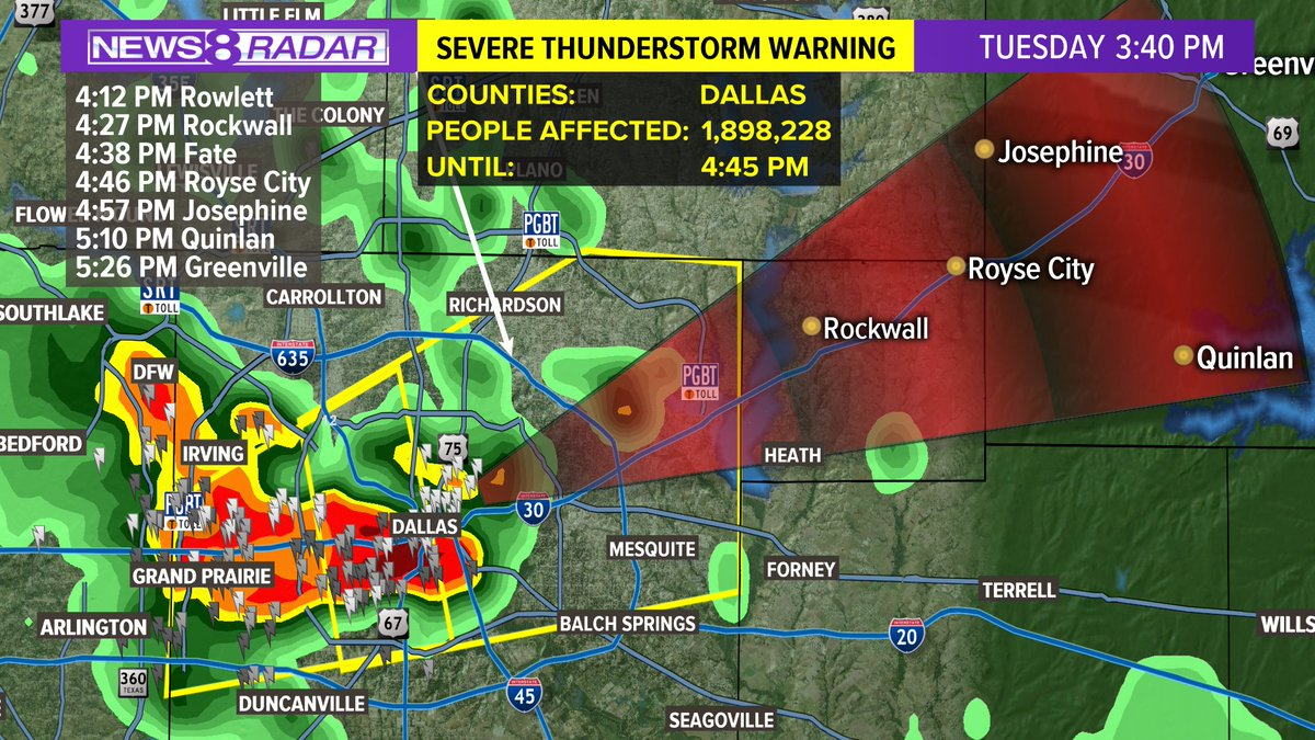 Pete Delkus On Twitter Severe T Storm Warning Continues For Dallas
