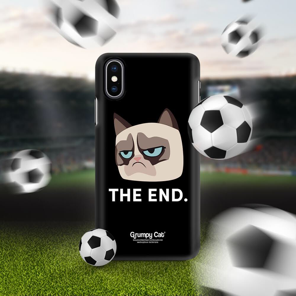 Protect your phone from #WorldCup disappointment. New cases from @caseable at: caseable.com/en/artists/gru… #Caseable #RockTheCase #GrumpyCat #phonecase #WorldCup2018