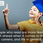 People who read are more likely to get ahead when it comes to their careers, and life in general. #didyouknow