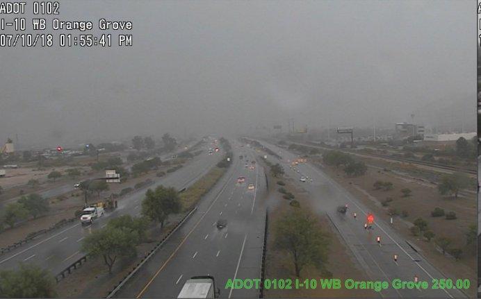 * STORM ALERT * More rain in Tucson at I-10 WB near Orange Grove. #Tucson #AzTraffic