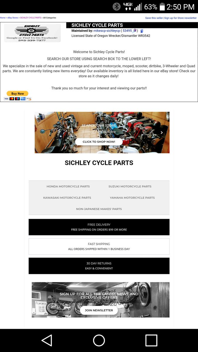 Sichley Cycle Parts On Twitter New Old Current Vintage Parts Shop Our Ebay Store Now Huge Discounts Click Link Below Make Offer Motorcycles Motorcycle Ebay Vintage Dirtbike Hondalove Kawasaki Triumph Yamaha Https T Co D032mzmclb