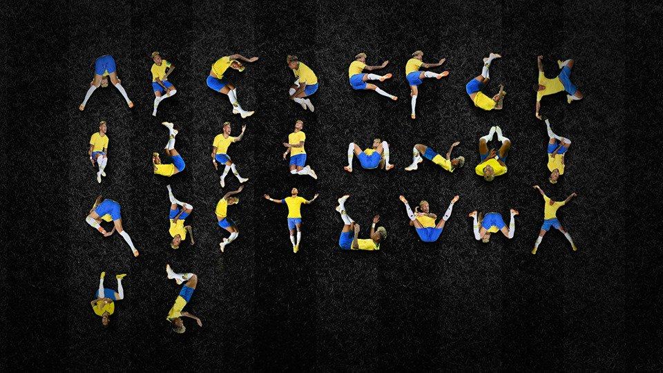 Fizeram um alfabeto com as quedas do Neymar