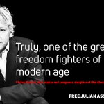 Julian Assange is truly, one of the greatest freedom fighters of the modern age -- Vivian Kubrick film-maker and composer, daughter of film director Stanley Kubrick @ViKu1111 #FreeAssange #Artists4Assange
