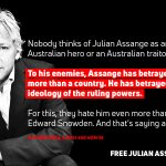 To his enemies, Julian Assange has betrayed much more than a country. He has betrayed the ideology of the ruling powers -- Arundhati Roy, author and activist. #FreeAssange #Artists4Assange