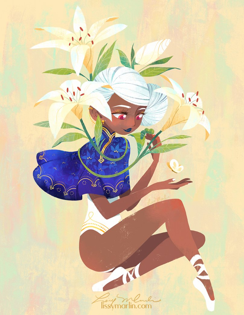 Have been dying to draw Lilies for a few days <3