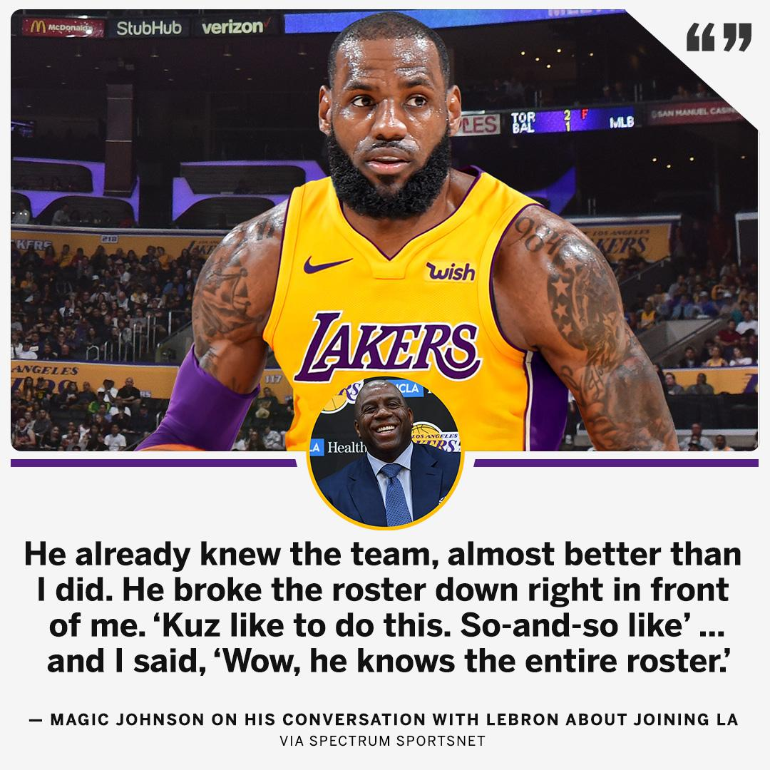 LeBron broke down the entire Lakers roster in his meeting with Magic. https://t.co/etGFaZb2mw