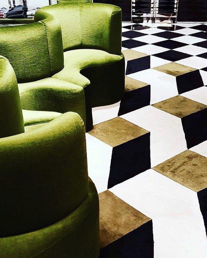 1c29c6148cb Custom design STEPEVI rug installed at Prada store in Paris..... La Vie de  Luxe!  paris  prada  ohlala  ihavethisthingwithfloors  luxuryrugs   interiors ...