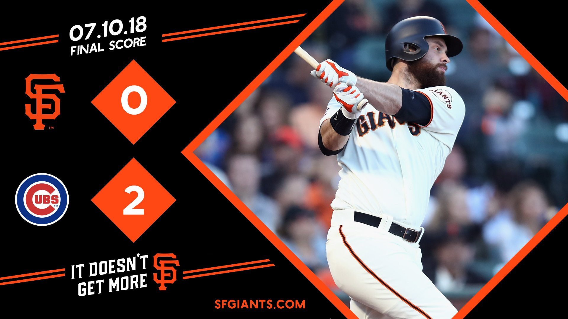 So much for that. We'll go for the series win tomorrow!   #SFGiants https://t.co/BCkhyTMNpw