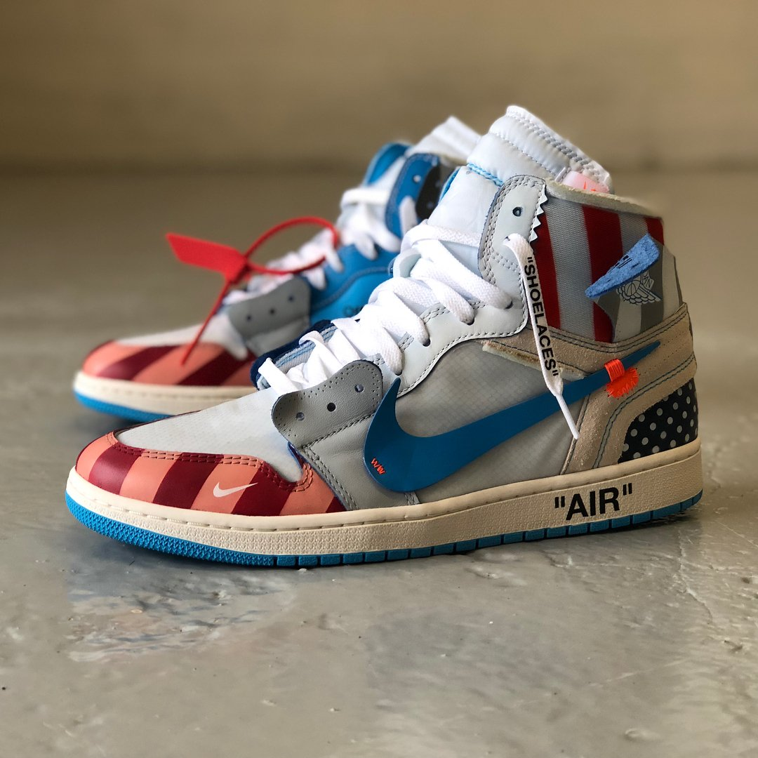 info for e0f41 d6d86 mache275 whipped up this parra x off-white x air jordan 1 custom. cop or  not