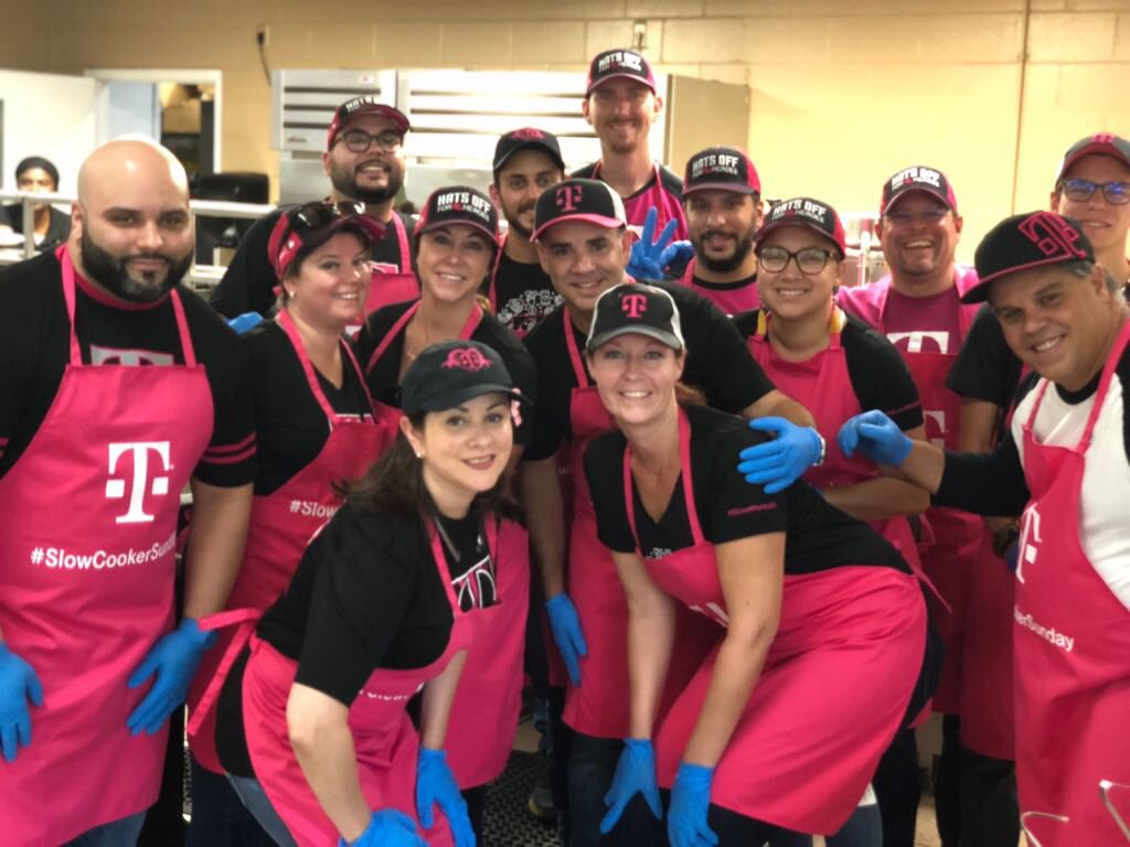 We had a great time with some of our @TMobile South Florida teammates serving lunch with our @ChapmanPartner community. Thank you for welcoming us and we'll see you again soon. #AreYouWithUs