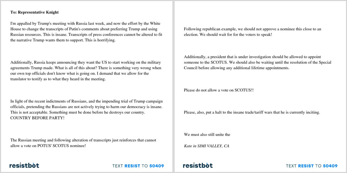 Resistbot Open Letters On Twitter Heres An Open Letter From Kate
