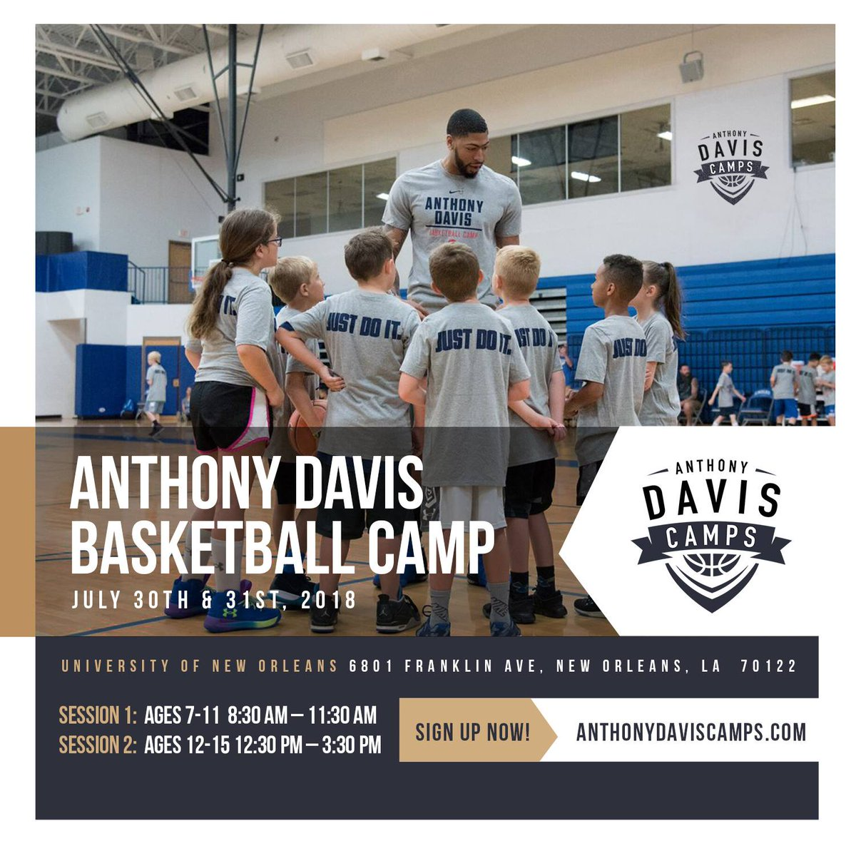 Only a few spots left for my camp next week in NOLA! Cant wait to put in some work 💪🏾 Sign up at anthonydaviscamps.com
