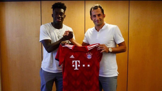 100% authentic 3e375 f9072 Alphonso Davies joins Bayern Munich for a record-breaking ...