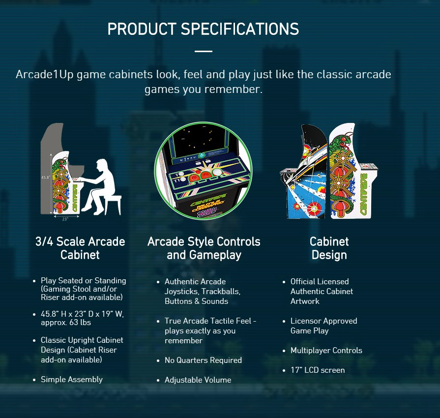 Arcade1up - Classic Arcade cabinets coming soon for $299
