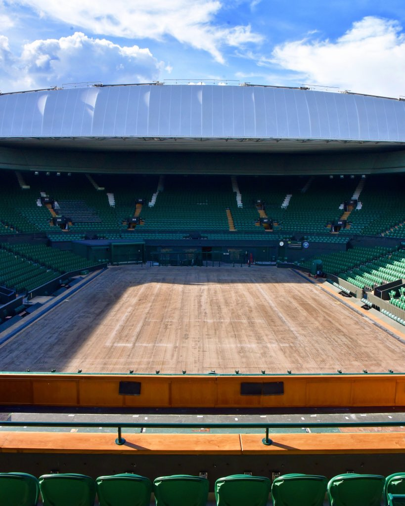Farewell to the Centre Court grass 👋 #Wimbledon
