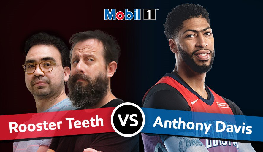 The guys at @roosterteeth think they can take me in a virtual race of the @Mobil1 #Go20K Road Trip…smh. Who you got?