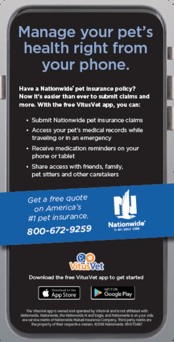 Nationwide Claims Phone Number >> Vitusvet On Twitter Did You Know We Partnered With Nationwide