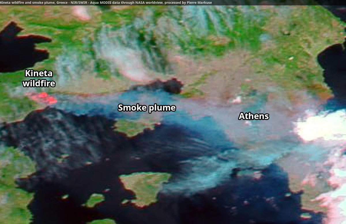 Kineta wildfire image by Aqua MODIS.