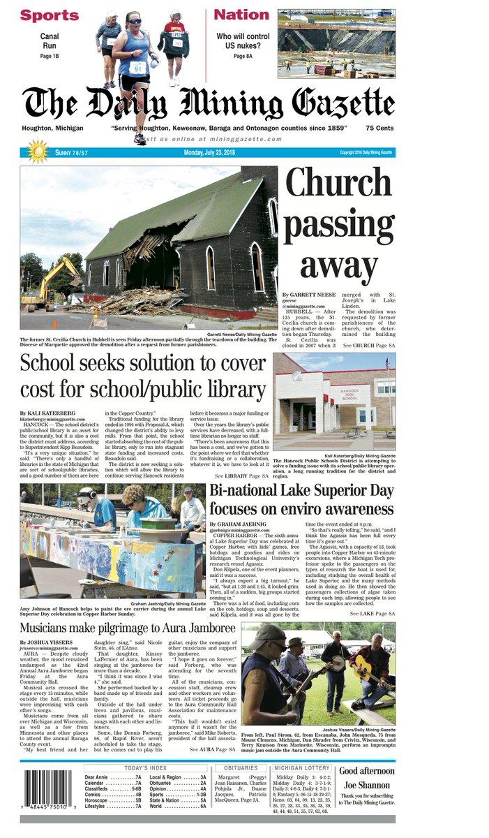 houghton michigan newspapers