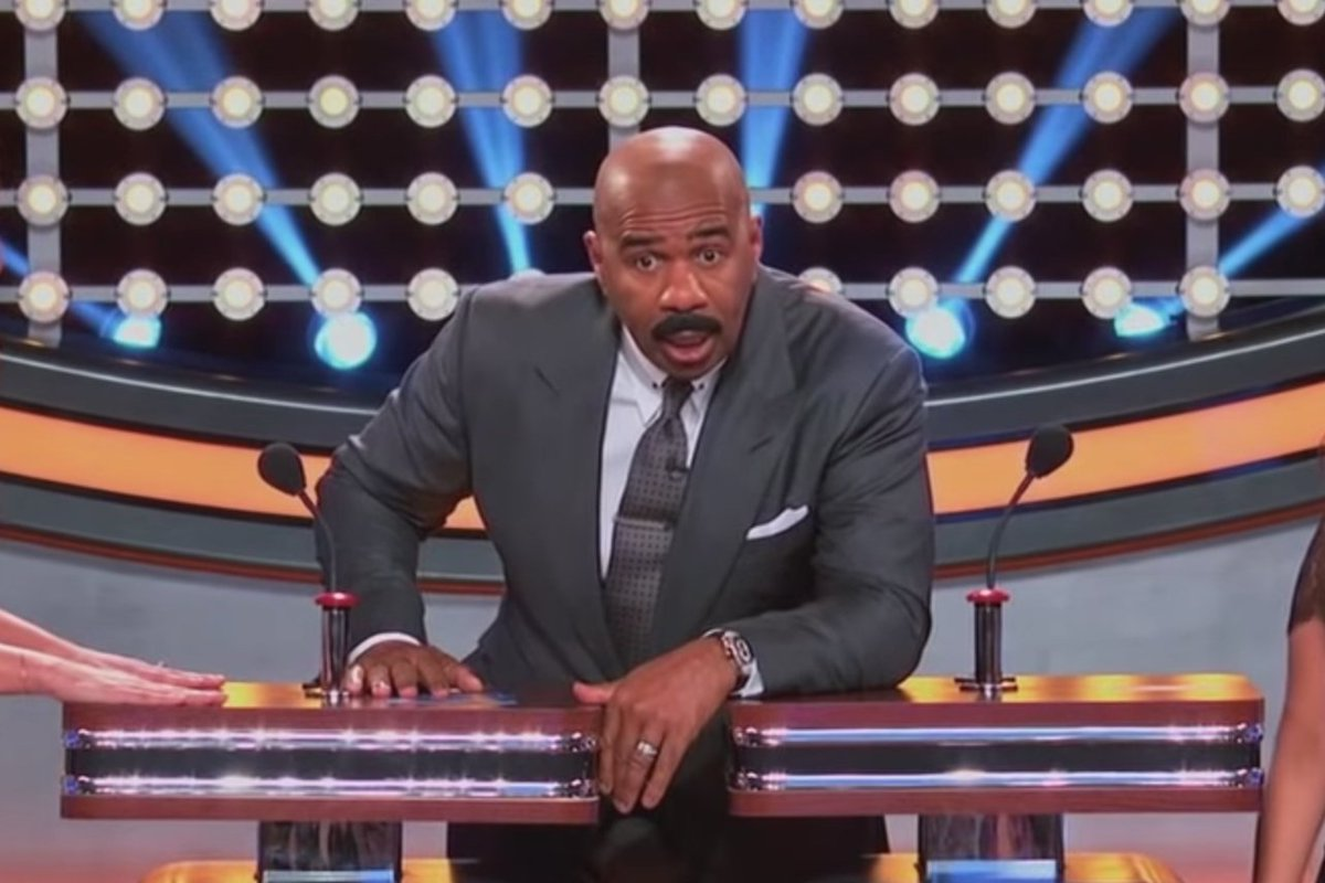 """Decider on Twitter: """"#CelebrityFamilyFeud polled 100 people... and nobody  wants to have sex wth Steve Harvey: https://t.co/Pb8JBwWT97… """""""