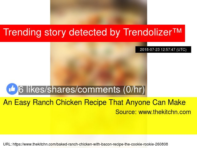 An Easy Ranch Chicken Recipe That Anyone Can Make  https://t.co/U19diZ2ryN https://t.co/3oyAwMCwQK