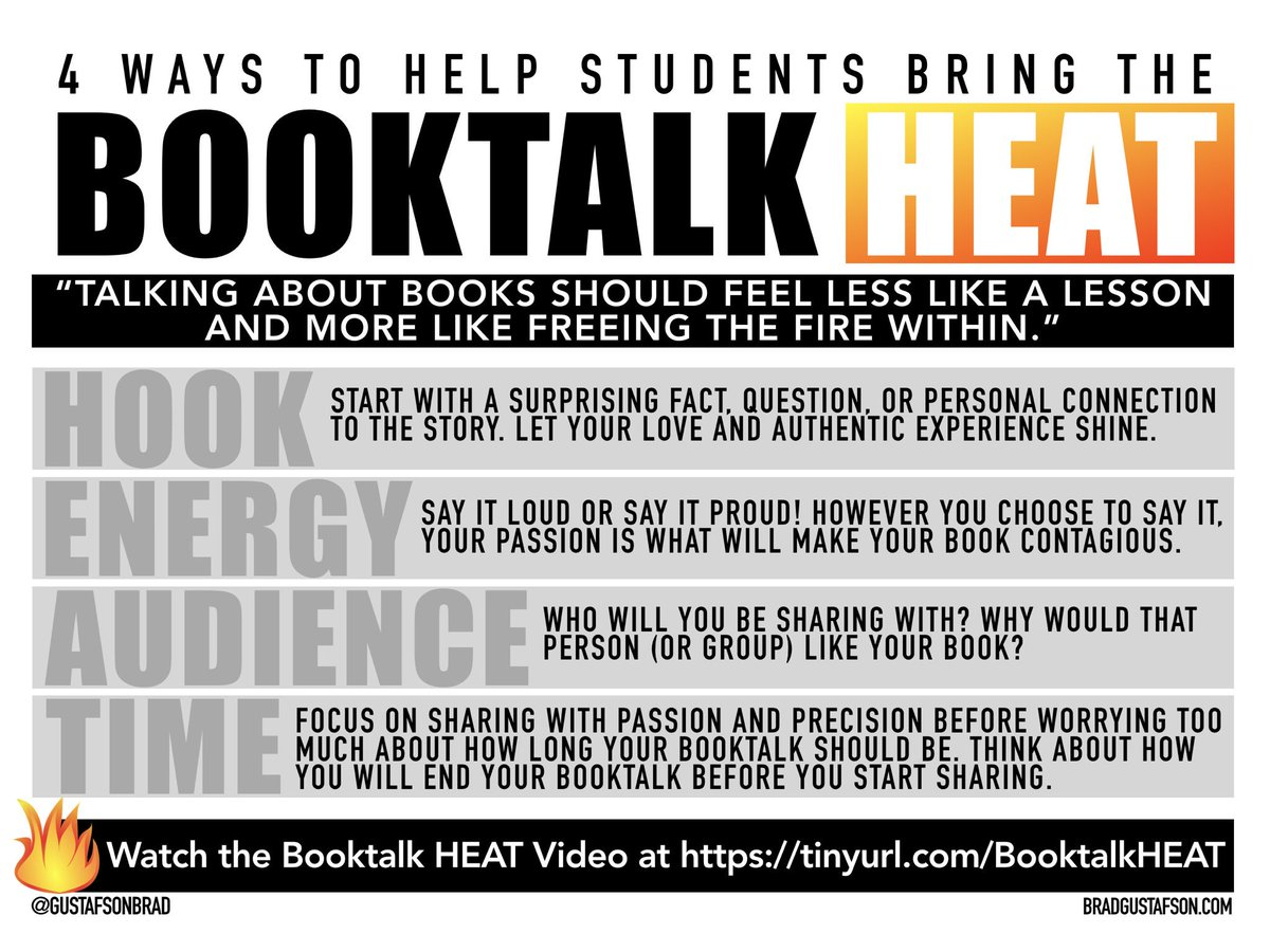 Talking about books should feel less like a lesson and more like freeing the fire within. #ReadingSummit #Booktalk<br>http://pic.twitter.com/0EzN5Ci4Gf