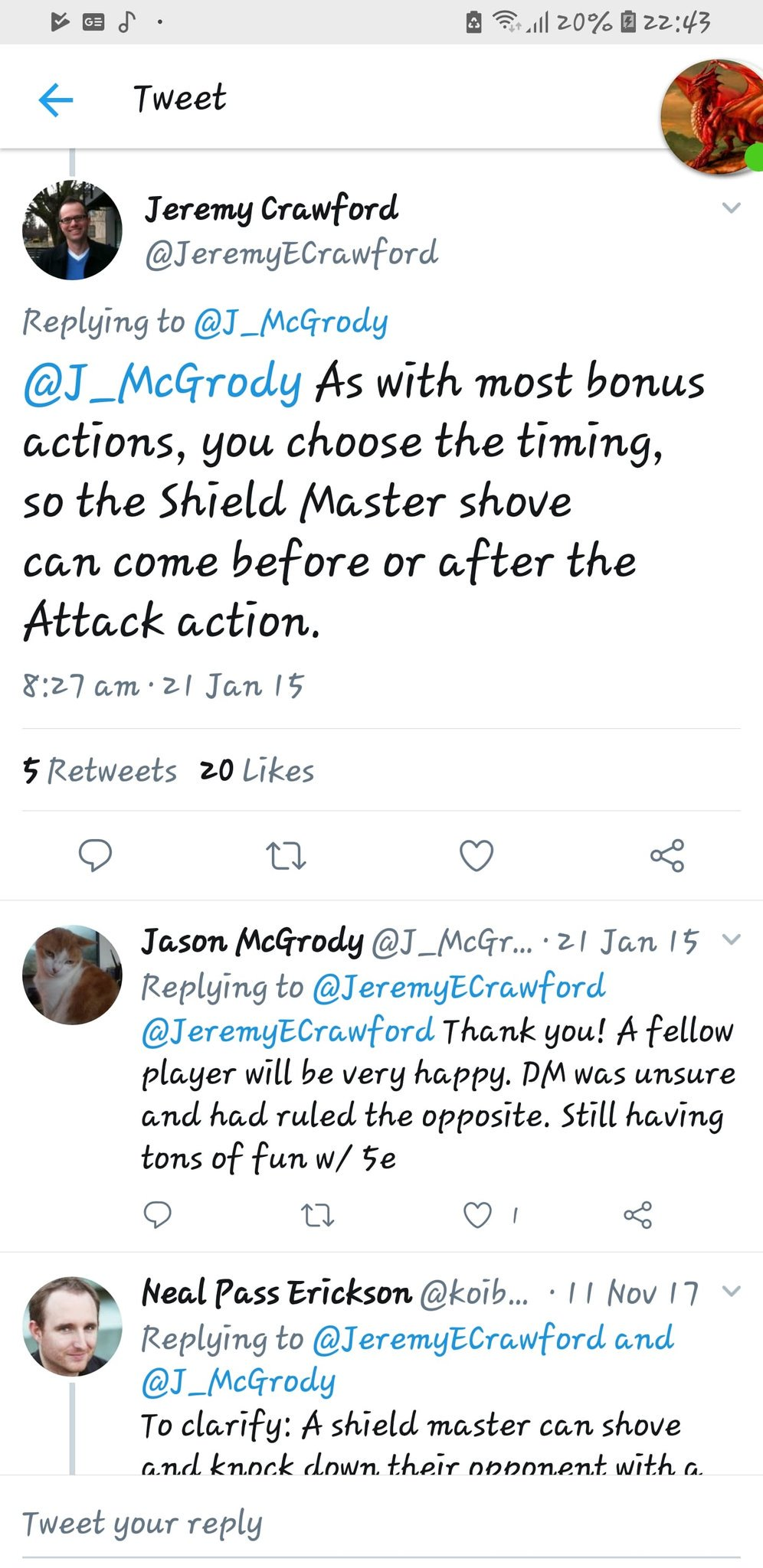 Chris Taylor On Twitter Jeremyecrawford You Ve Given Two Answer To Same Question Also If You Have Multiple Attacks Can You Attack Shove Attack Https T Co Is80kwplr6 In this video guide, we're covering the actions in combat you can take in dungeons and dragons 5th edition.combat is one of the. twitter