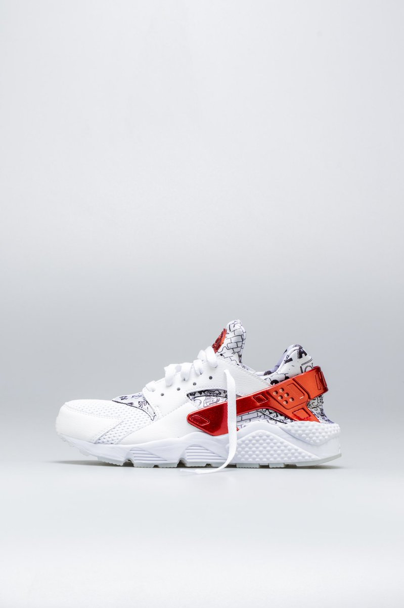 new air huarache run qs shoe palace 25th anniversary mens lifestyle shoe  white red platinum b9bca250b