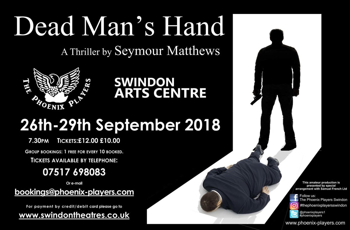 Fab poster for our latest play #talent #Swindon #theatre #tickets #ActorsLife