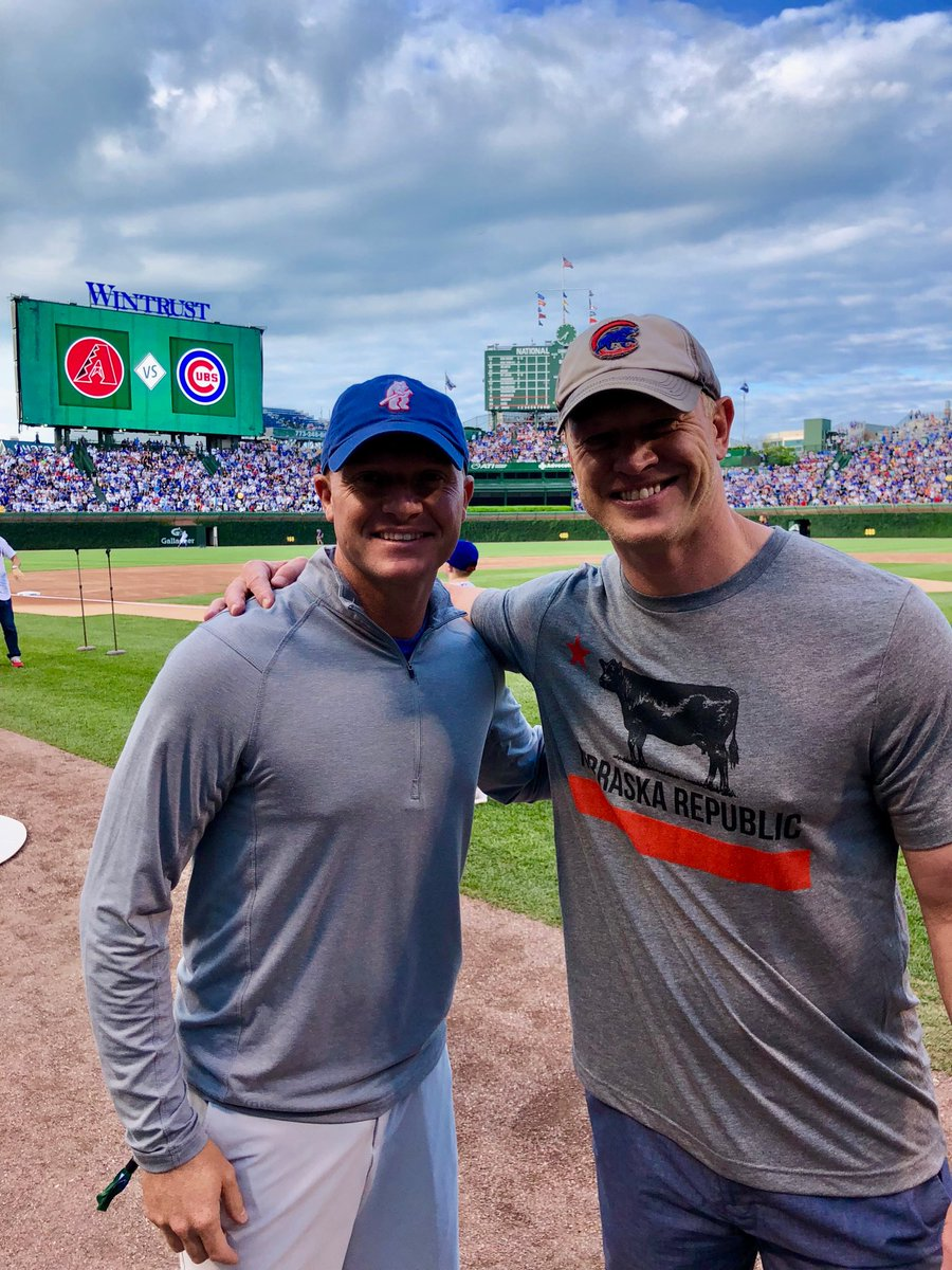 Little business meeting in Chicago tonight. #GoCubsGo #Huskers