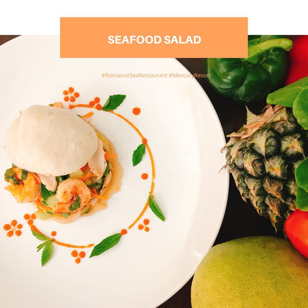 Seafood Salad at Romance Sea Restaurant #mercuryphuquocresortandvillas https://t.co/blTUexhW0f