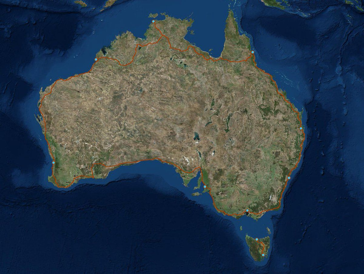 Map Around Australia.Simon Kuestenmacher On Twitter Driving Around Australia Takes