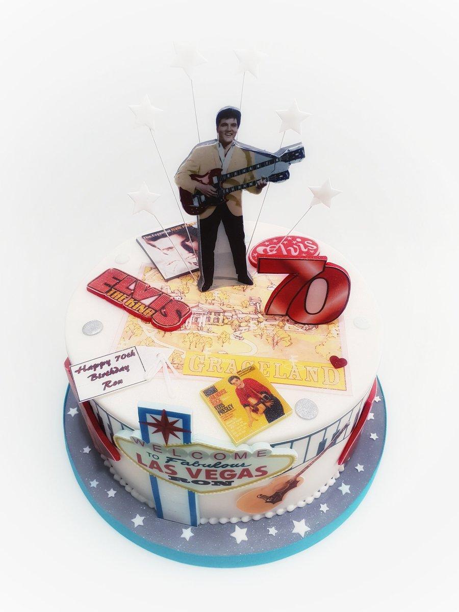 Remarkable Cake Moda On Twitter Elvis Themed Cake Birthday Cake Birthday Cards Printable Inklcafe Filternl
