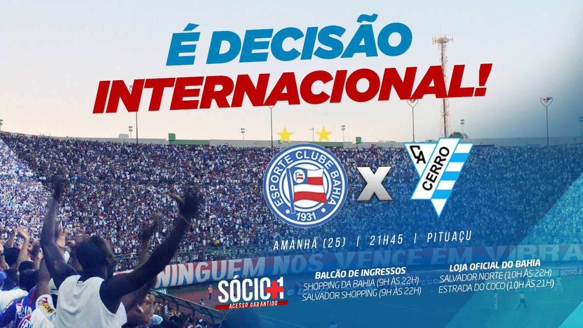 Hoje são 4 pontos de venda pro jogo desta quarta pela Sul-Americana! 7e474faddb96c