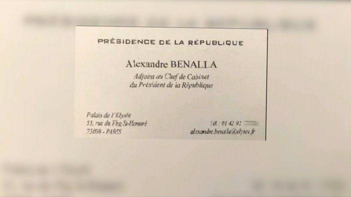 La Vraie Fausse Carte De Visite DAlexandre Benalla A LElysee