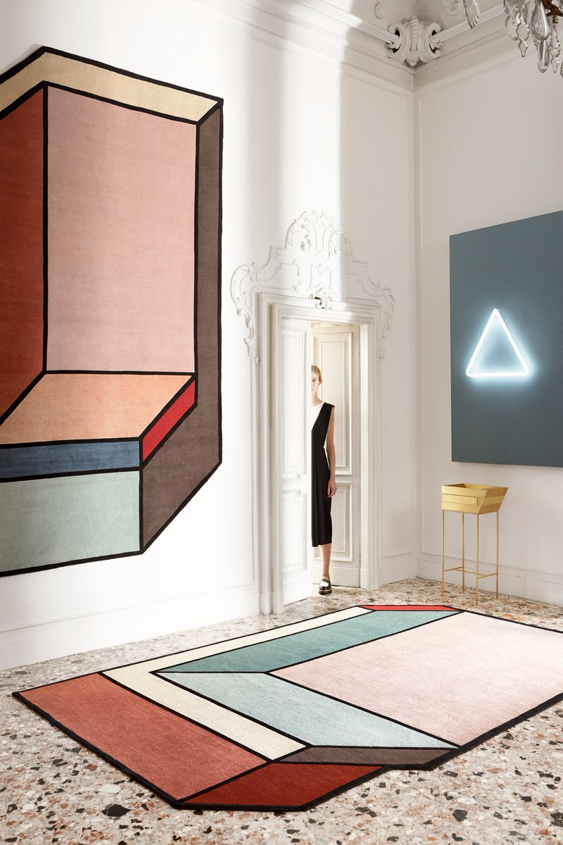These optical illusion rugs from purquiola and cc tapis are a design triumph