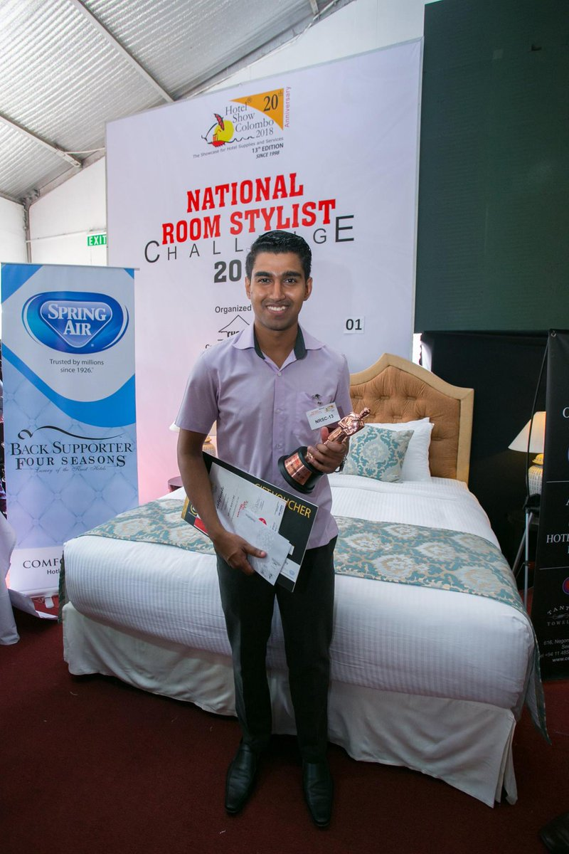 Shane Kollure of Cinnamon Lakeside's Housekeeping department claimed third place at the Finals of the recently concluded National Room Stylist Challenge 2018 for his 'Charlie and the Chocolate Factory' themed bedroom arrangement. #CLakeStaff #CinnamonLakeside https://t.co/Do1JLWnH99