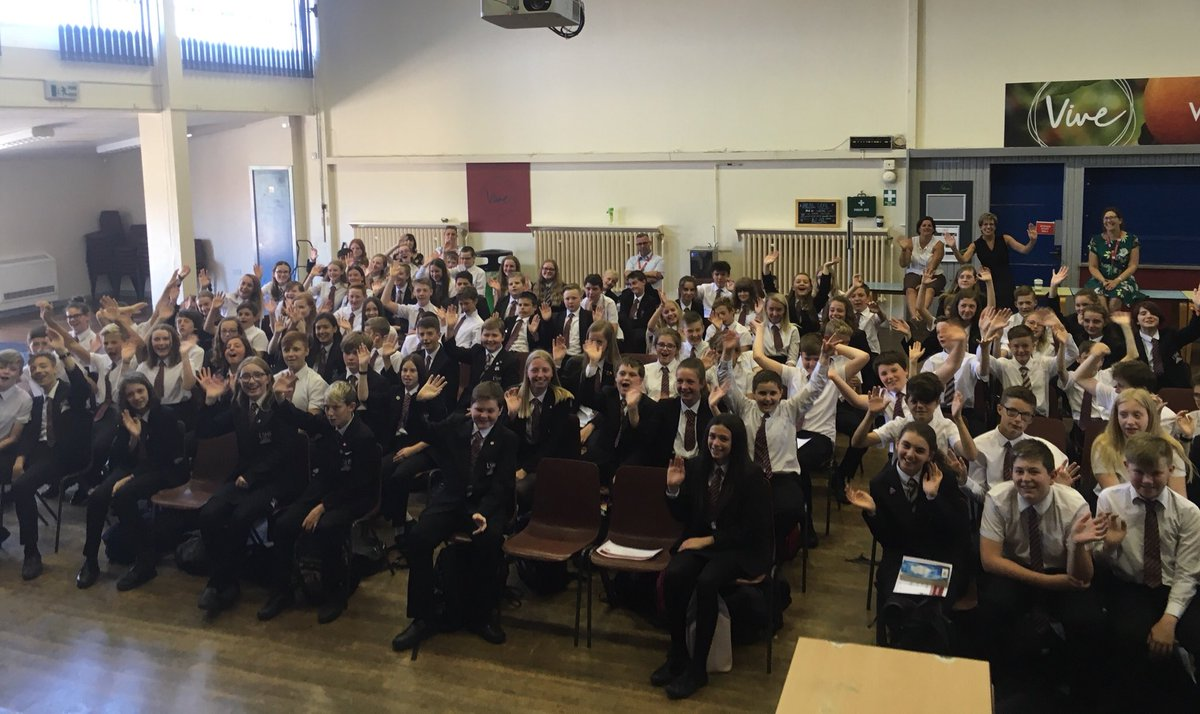The fabulous YR8 have gathered for their celebration assembly #LshsExcellence