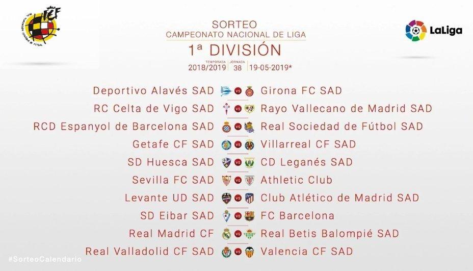 Calendario Madrid 2019.Rayo Vallecano On Twitter Ultima Jornada De Laligasantander 2018