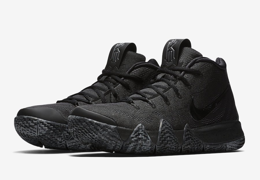 on sale da656 9aeea Nike Kyrie 4 Color  Black Black Style Code  943807-008 Release Date  July  27, 2018 Price   120 http   bit.ly Sneaker News pic.twitter.com sFS1vPUDsf