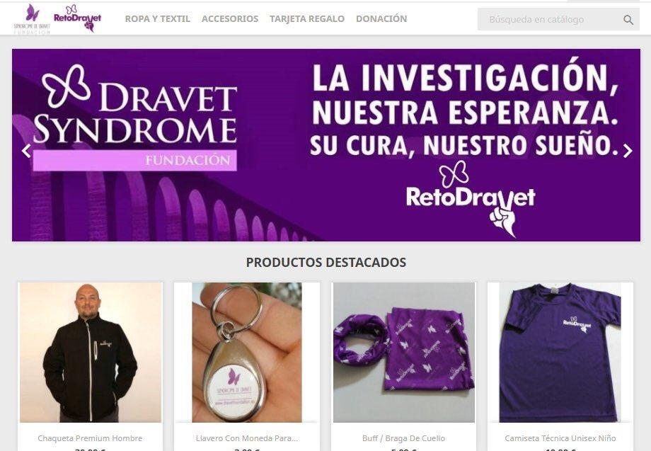 En http://RetoDravet.com podrás acceder a nuestra tienda solidaria, cuya recaudación se invierte íntegramente en la investigación del síndrome de #Dravet🙏🙏  Por sólo 10€ puedes tener nuestra camiseta #morada😉  Y otros muchos artículos‼️